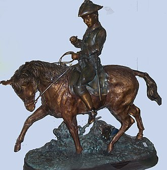 """Edward Berge - """"American soldier on horseback"""" (private collection)"""