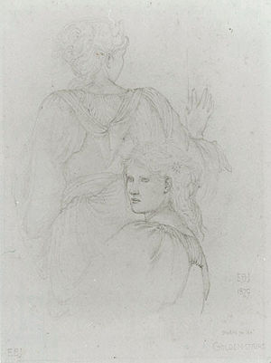 The Golden Stairs - Image: Edward Burne Jones Study of two girls for the Golden Stairs