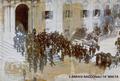 Edward VII visiting Malta, April 1903 - The King leaving the Auberge de Castille in Valletta.png