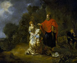 Woman of Shunem - Gerbrand van den Eeckhout, Elisha and the Shunammite woman, 1649.