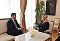 Eesti suursaadik Horvaatias Sten Schwede ja Horvaatia president Kolinda Grabar-Kitarovićile (35027112281).jpg