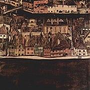 Die kleine Stadt II. View of Krumau an der Moldau, 1912-1913