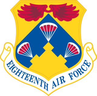 Eighteenth Air Force Numbered air force of the United States Air Force responsible for air mobility forces