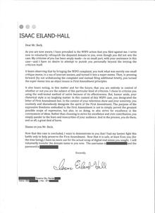 Eiland Letter To Jeff Davis Requesting Return After Awol