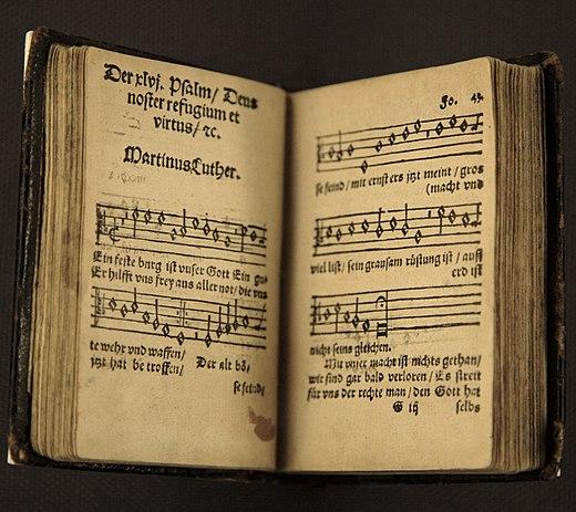 "An early printing of Luther's hymn ""Ein feste Burg ist unser Gott"""