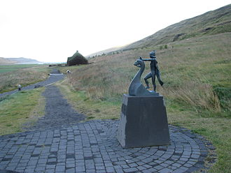 Historical romance - Eiríksstaðir, the homestead of the Viking Erik the Red, Iceland