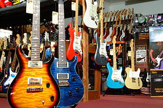 Elderly Instruments - Electric guitar showroom
