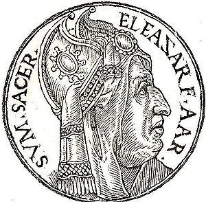 Promptuarium Iconum Insigniorum - An image in Promptuarium Iconum Insigniorum depicting Eleazar