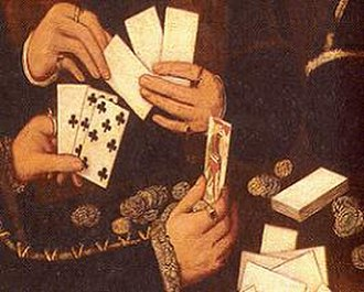 Gilet (card game) - Image: Elizabethan Card Players