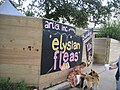 Elysian Fleas Market Oct 2009 Sign Dog.JPG