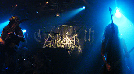 Enthroned is a black metal band from Belgium Enthroned 201107 Paris 07.jpg