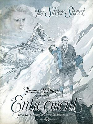 Enticement (1925 film) - The Silver Sheet, front cover (1924)