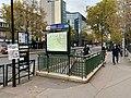 Entrée Station Métro Boulogne Pont St Cloud Boulogne Billancourt 1.jpg