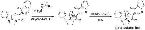 Oxaziridine epoxidation in total synthesis