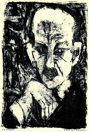 Carl Sternheim - Ernest Ludwig Kircher portrait of Carl Sternheim 1916