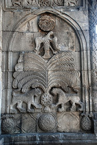 Erzurum - Seljuk stone carving on the Yakutiye Medrese, 13th century