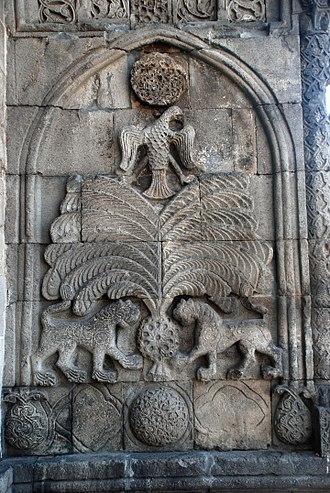 Erzurum - Seljuk stone carving on the Yakutiye Medrese, 13th century