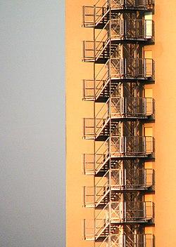 Escada de segurança - Edifício Mirante do Vale - São Paulo - Brasil (Fire escape in São Paulo).jpg