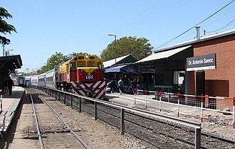 Belgrano Sur Line - Train at Dr. Antonio Saenz station.