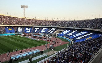 Esteghlal F.C. - Esteghlal fans at Tehran derby