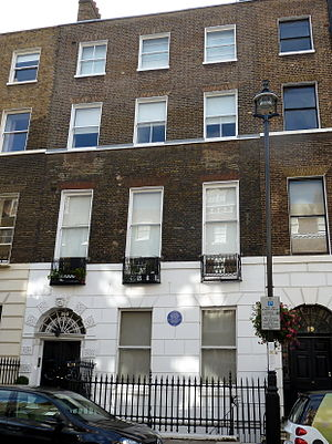Ethel Gordon Fenwick - Former residence of Ethel Gordon Fenwick with blue plaque