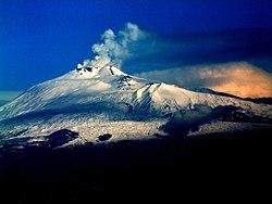 Etna - letecký pohled