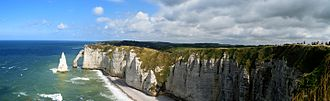 Étretat - Panorama of the cliffs