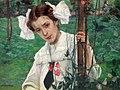 Eugeniusz Kazimirowski - Madzia w ogrodzie 1909.jpg