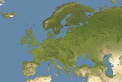 Forhistoriske pælhuse i Alperne på kortet over Europa
