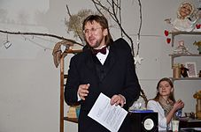 Evening with Ales Pushkin - Presentation Portrait of Chopin in Anticafe Fisher 10.02.2015 13.JPG