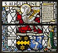 Exeter Cathedral, Stained glass window detail (36671032450).jpg