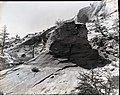 Exhibit 2- roadside interpretation at White Arch. ; ZION Museum and Archives Image 007 01 035 ; ZION 8786 (a2f33c0d65524e43aee7f4268842662f).jpg
