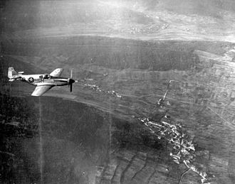 15th Attack Squadron - 15th Reconnaissance Squadron F-6C Mustang (fuselage code 5M-Q)