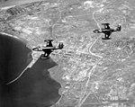 F2H-2 Banshees of VF-62 in flight over Hungnam on 26 July 1953 (80-G-630625).jpg