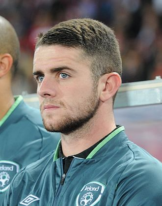 Robbie Brady - Brady with the Ireland national team before the match against Austria in September 2013