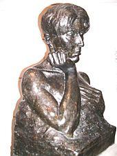Florencio Sánchez, en el Teatro La Comedia de Rosario, (Argentina),  del escultor anarquista Erminio Blotta.
