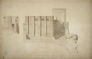 Jean-Charles Danjoy - North façade of the Château de Falaise