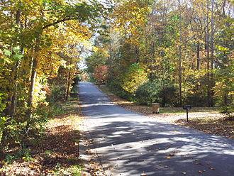 Woodstock, Georgia - Fall in Kings Ridge Estate, Woodstock