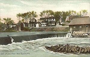 Buxton, Maine - Falls on Saco River c. 1908