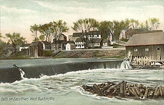 Buxton, Maine - Falls on Saco River c. 1908