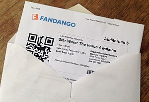 Fandango (company) - Ticket to Star Wars: The Force Awakens