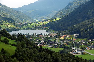 Feld am See - Gegend valley with Feld am See