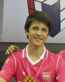 Feliks Zemdegs at the World Cubing Championships in Bangkok in October 2011.