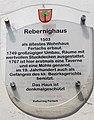 Ferlach Schulhausgasse 3 Rebernighaus Tafel vom Kulturring 07062015 2528.jpg