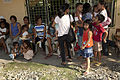 Filipino residents wait to be seen by Armed Forces of the Philippines and U.S. military doctors during a cooperative health engagement (CHE) at Inhobol Elementary School in Masinloc, Zambales province 130405-M-UY788-001.jpg