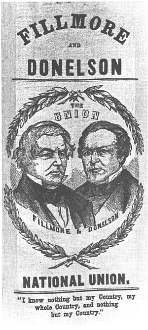 Know Nothing - Fillmore–Donelson campaign poster