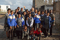 Filming Documentary about Sinenjongo High School in Joe Slovo Park, Cape Town, South Africa - 07.jpg