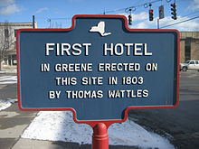 First hotel in Greene, NY.