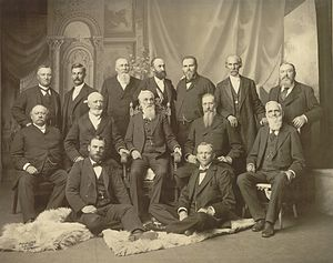 Apostle (Latter Day Saints) - The First Presidency and the Twelve Apostles in September 1898.