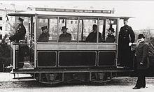 Tram elettrico a Groß-Lichterfelde (1882).